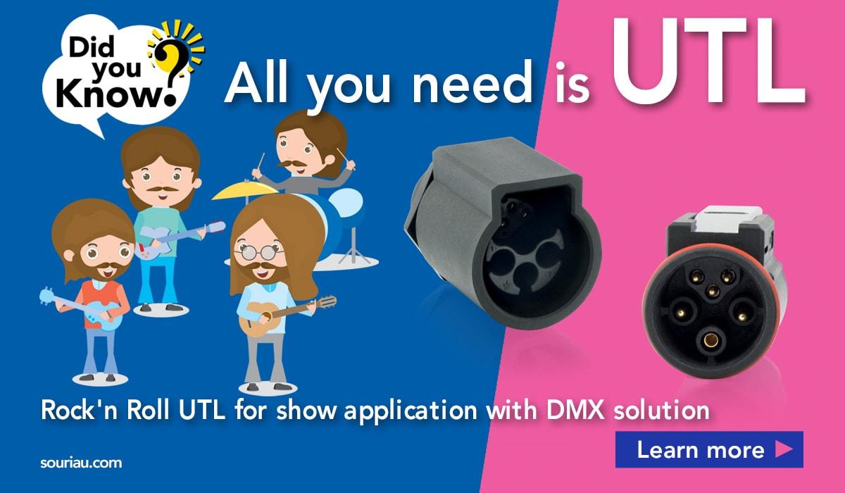 UTL Connector for lighting